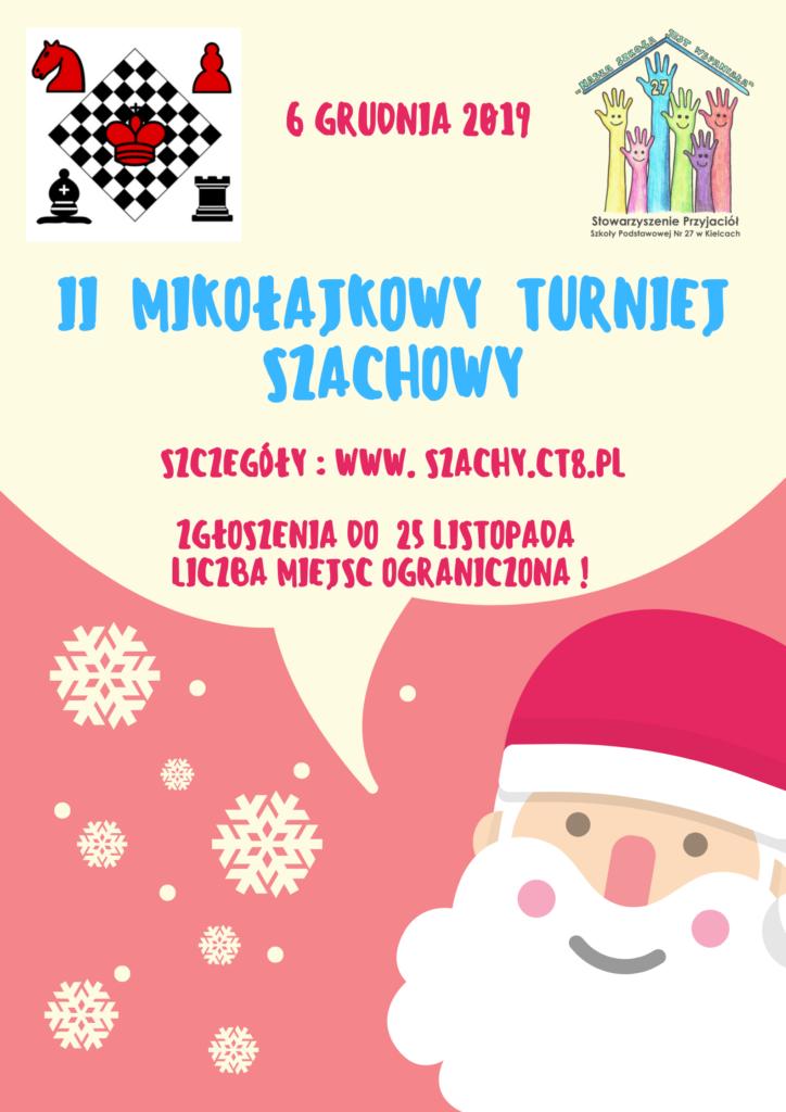 """Drugi """"Mikołajkowy"""" Turniej Szachowy"""